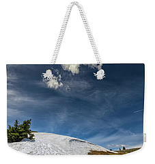 Weekender Tote Bag featuring the photograph Yellowstone Sky by John M Bailey