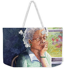 Weekender Tote Bag featuring the painting Yesterday's Gone by Marilyn Smith