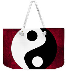 Yin And Yang Weekender Tote Bag