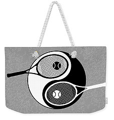 Yin Yang Tennis Weekender Tote Bag by Carlos Vieira