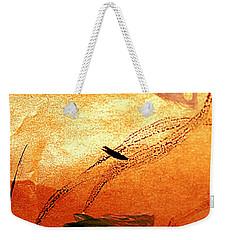 Ying And Yang Flowers Weekender Tote Bag