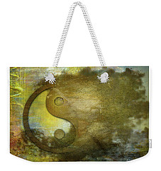 Ying And Yang Unbalanced Weekender Tote Bag