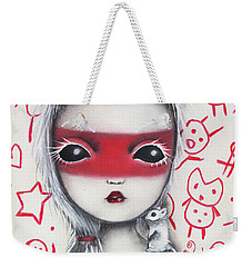 Yo  Weekender Tote Bag by Abril Andrade Griffith