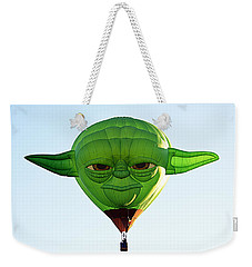 Weekender Tote Bag featuring the photograph Yoda  by AJ Schibig