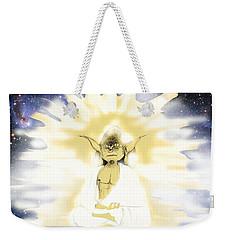 Yoda Budda Weekender Tote Bag