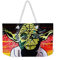 Yoda  Come Home Weekender Tote Bag by Nora Shepley