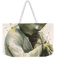 Yoda Portrait Weekender Tote Bag by Olga Shvartsur