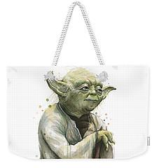 Yoda Watercolor Weekender Tote Bag