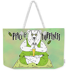 Yoga Beer Bear Weekender Tote Bag