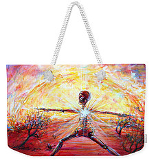 Yoga Warrior Weekender Tote Bag