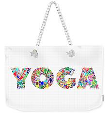 Yoga Word Art Weekender Tote Bag