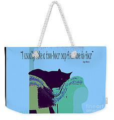 Yogi Cat Nap Weekender Tote Bag