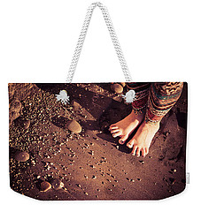 Weekender Tote Bag featuring the photograph Yogis Toesies by T Brian Jones