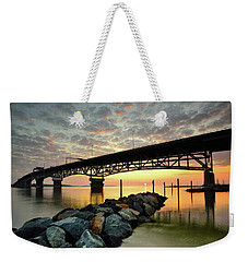 York River Sunrise Weekender Tote Bag