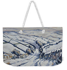 Yorkshire In The Snow Weekender Tote Bag