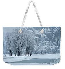 Weekender Tote Bag featuring the photograph Yosemite - A Winter Wonderland by Sandra Bronstein