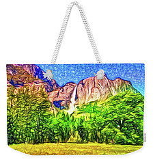 Weekender Tote Bag featuring the painting Yosemite National Park by Joan Reese