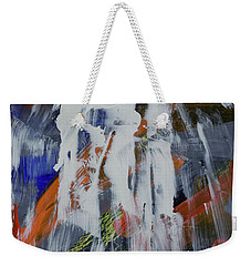 Weekender Tote Bag featuring the painting Yosemite Spring Falls by Walter Fahmy