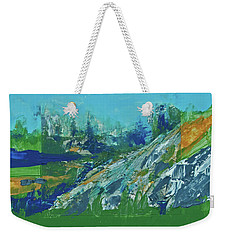 Weekender Tote Bag featuring the painting Yosemite Spring Reflections  by Walter Fahmy