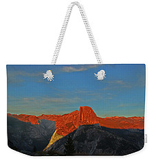 Weekender Tote Bag featuring the photograph Yosemite Summer Sunset Abstracted 1 by Walter Fahmy
