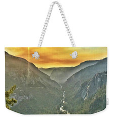 Yosemite Tunnel View Weekender Tote Bag