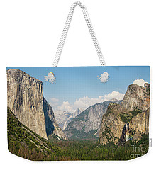 Yosemite Tunnel View With Bridalveil Rainbow By Michael Tidwell Weekender Tote Bag
