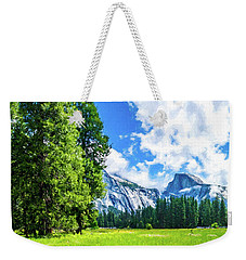 Yosemite Valley And Half Dome Digital Painting Weekender Tote Bag