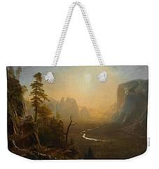 Yosemite Valley Glacier Point Trail Weekender Tote Bag by Albert Bierstadt