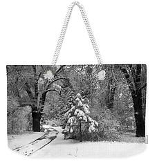 Yosemite Valley Winter Trail Weekender Tote Bag by Underwood Archives