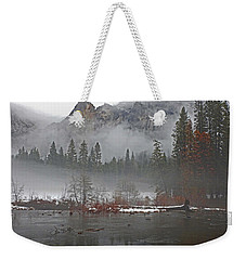 Weekender Tote Bag featuring the photograph Yosemite Winter Beginnings by Walter Fahmy