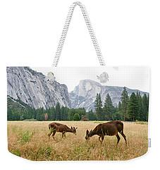 Yosemite's Half Dome And Two Deer Weekender Tote Bag