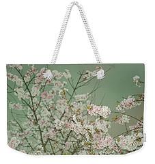 Yoshino Cherries Jade Weekender Tote Bag