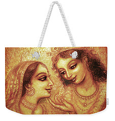 Weekender Tote Bag featuring the mixed media You Are My Darling by Ananda Vdovic