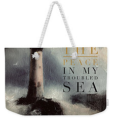 You Are The Peace In My Troubled Sea Lighthouse Weekender Tote Bag