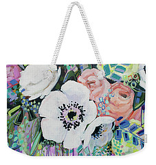 You Had Me At Hello Weekender Tote Bag by Kristin Whitney