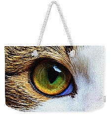 Weekender Tote Bag featuring the digital art You Know I Love You by Rafael Salazar