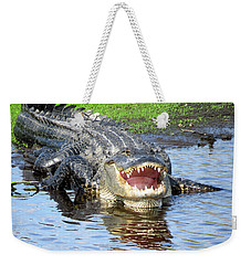 You May Think I'm Smiling Weekender Tote Bag