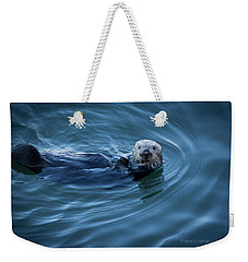 Weekender Tote Bag featuring the photograph You Otter Take My Picture, Lady by Lora Lee Chapman