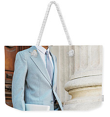 Young African American Businessman Working In New York Weekender Tote Bag