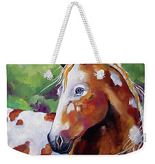 Young Appaloosa Weekender Tote Bag