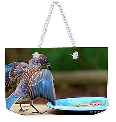Young Bluebird's Delight Weekender Tote Bag