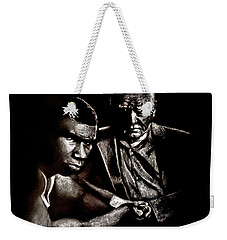 Young Boxer And Soon To Be World Champion Mike Tyson And Trainer Cus Damato Weekender Tote Bag