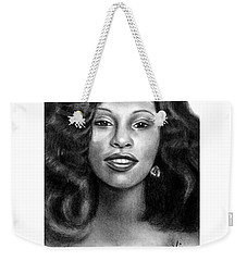 Young Chaka Khan - Charcoal Art Drawing Weekender Tote Bag