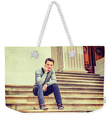 Young College Student 15042515 Weekender Tote Bag