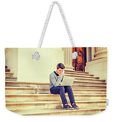 Young College Student Studying In New York 15042516 Weekender Tote Bag