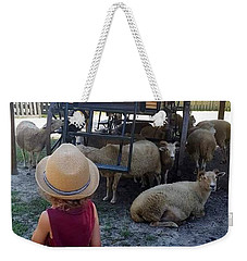 Weekender Tote Bag featuring the photograph Young Country Boy by Donna Bentley