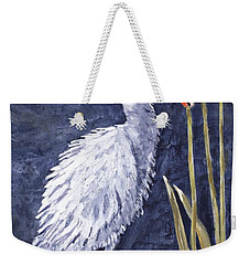 Young Egret Takes A Walk Weekender Tote Bag