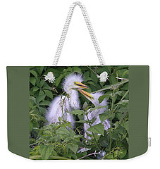 Young Egrets Weekender Tote Bag