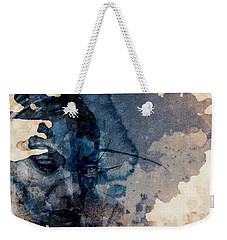 Weekender Tote Bag featuring the mixed media Young Gifted And Black - Nina Simone  by Paul Lovering