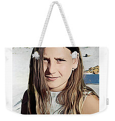 Young Girl, Spain Weekender Tote Bag by Kenneth De Tore